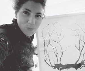 Steffi zelfportret
